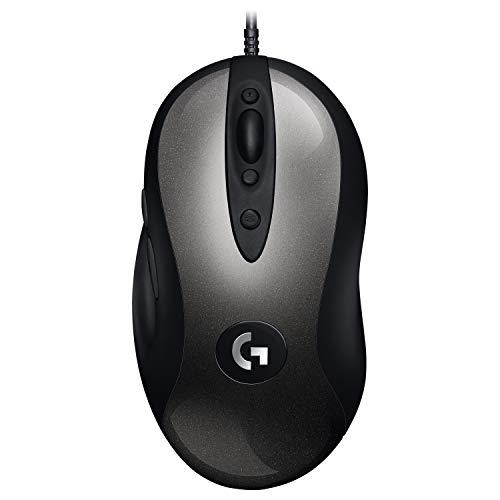 Logitech G MX518 Gaming-Maus mit HERO 25K DPI Sensor, ARM-Prozessor, 8 programmierbare Tasten, USB-Anschluss, Ultraleicht, Signalrate von 1ms, PC/Mac - Schwarz/Grau