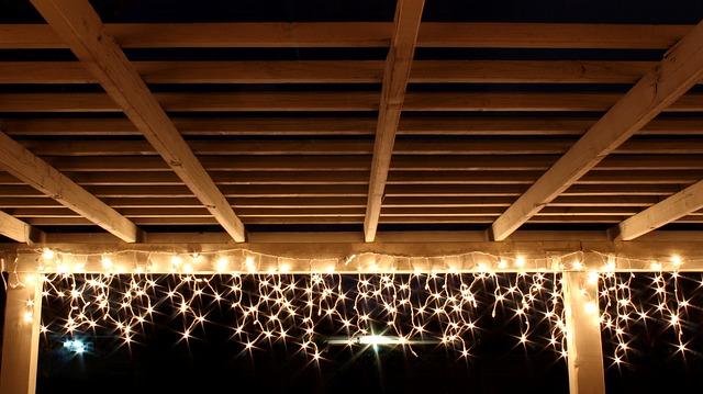 Lichterketten Beleuchtung meiner Frau zur Weihnachtszeit